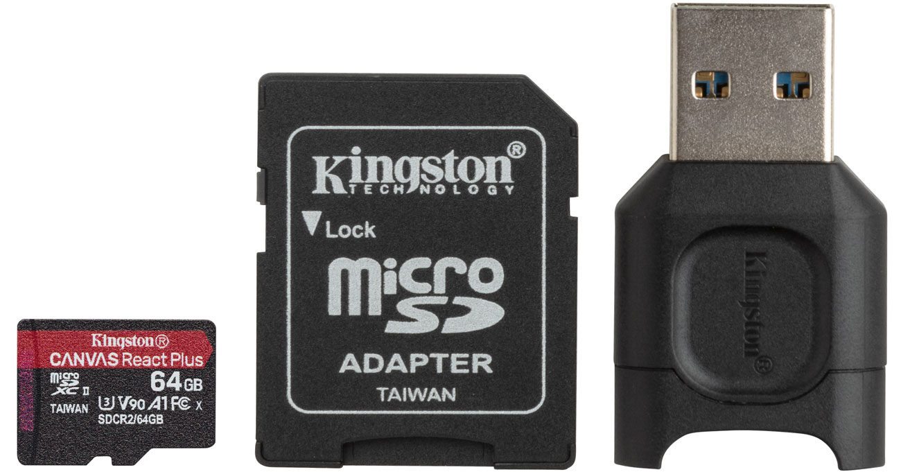 Karta pamięci microSD Kingston Canvas React Plus 64GB