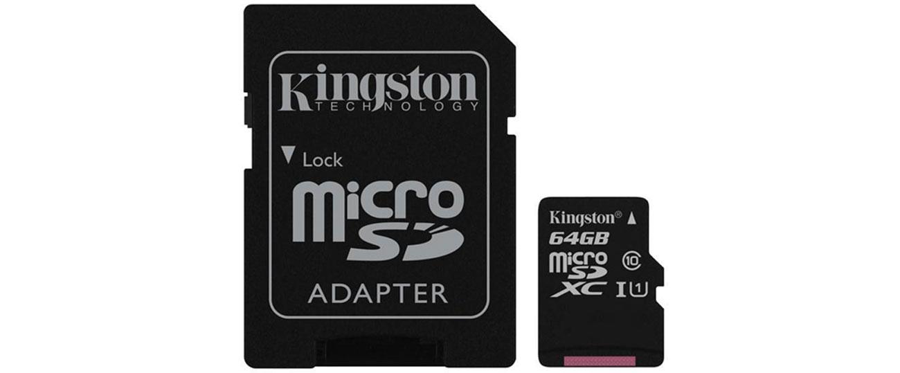 Kingston 64GB microSDXC mała wydajna trudne warunki
