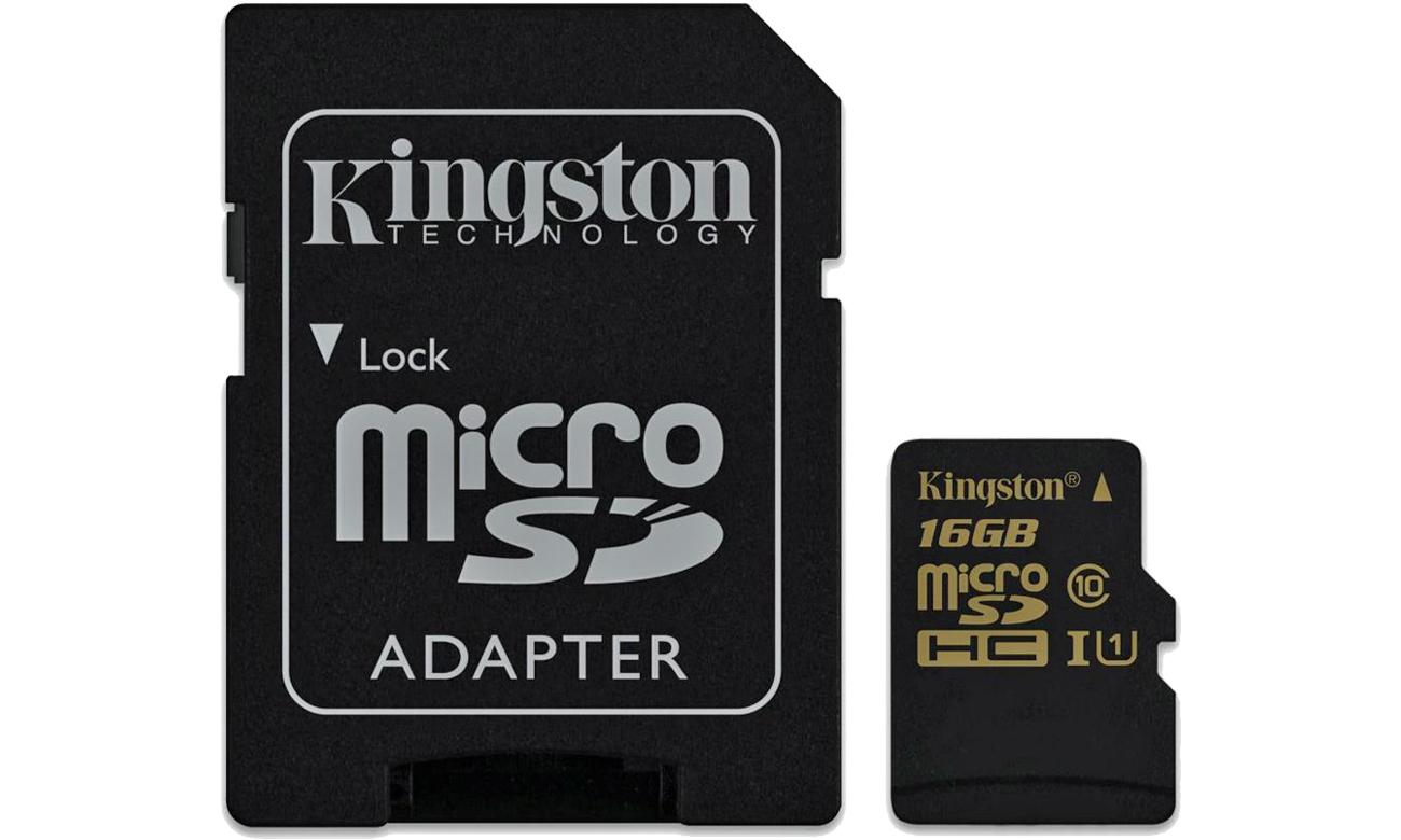 Kingston SDCA10 16GB microSDHC Class10 adapter