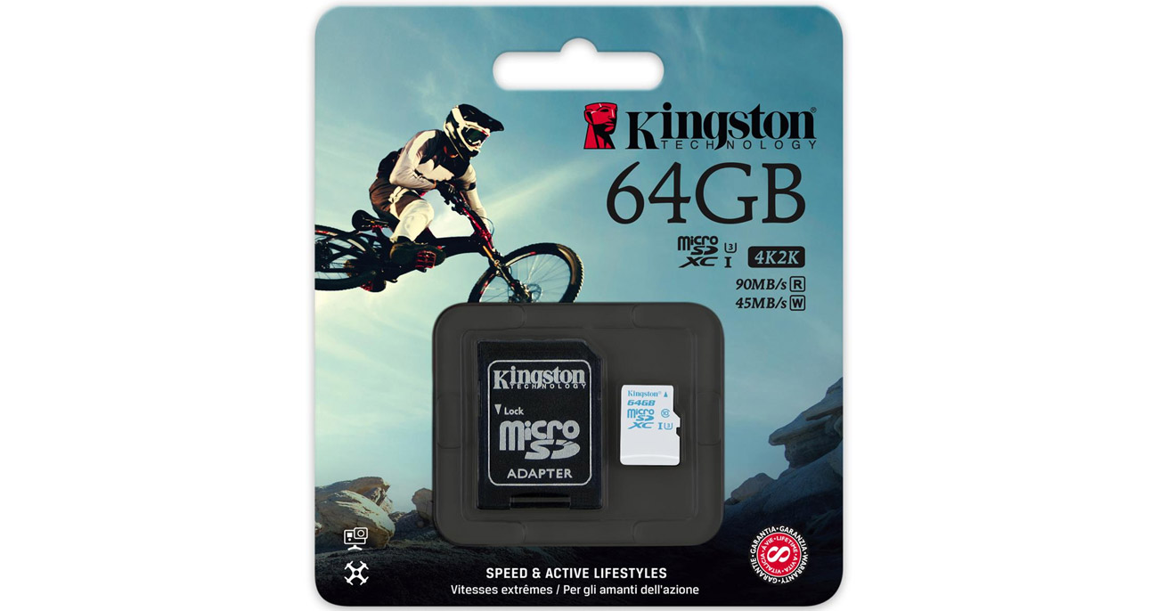 Kingston 64GB microSDXC UHS-I U3 zapis 45MB/s odczyt 90MB ...
