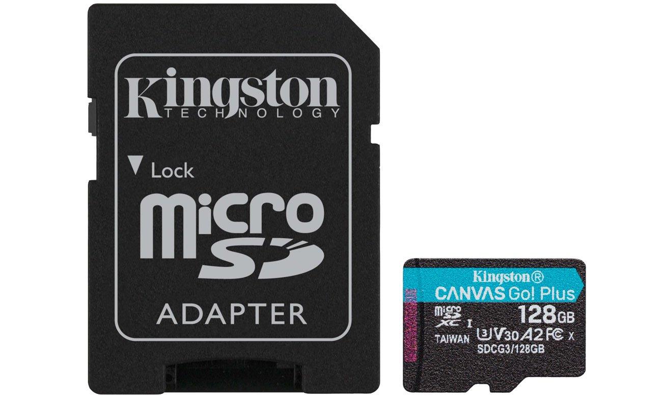 Karta pamięci microSD Kingston Canvas Go! Plus 128GB