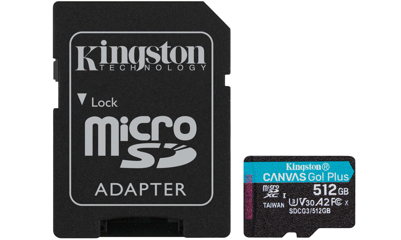 Karta pamięci microSD Kingston Canvas Go! Plus 512GB