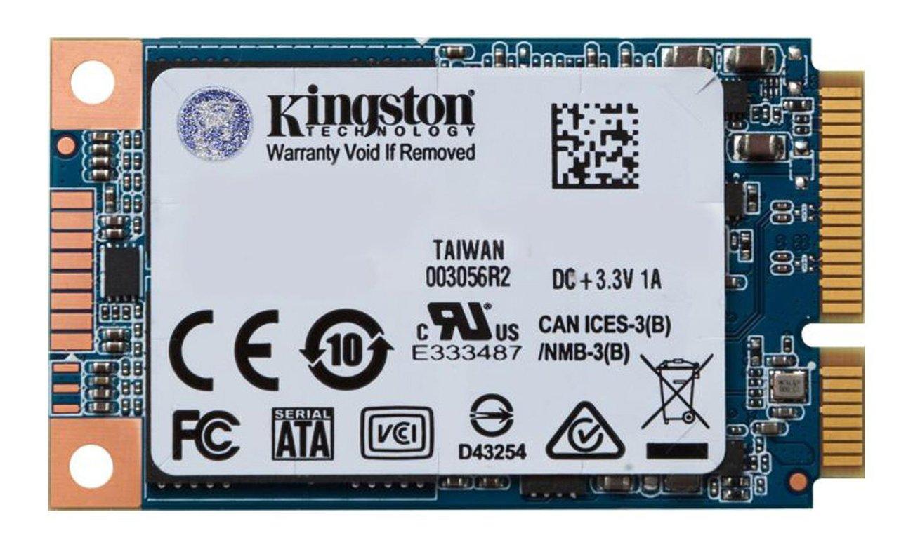 Kingston UV500 SSD mSATA Radykalnie podnosi wydajność systemów