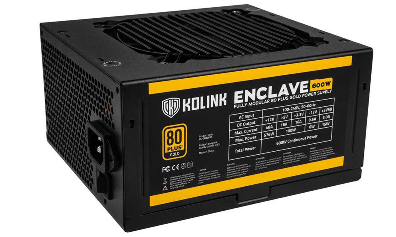 Zasilacz do komputera Kolink Enclave 600W