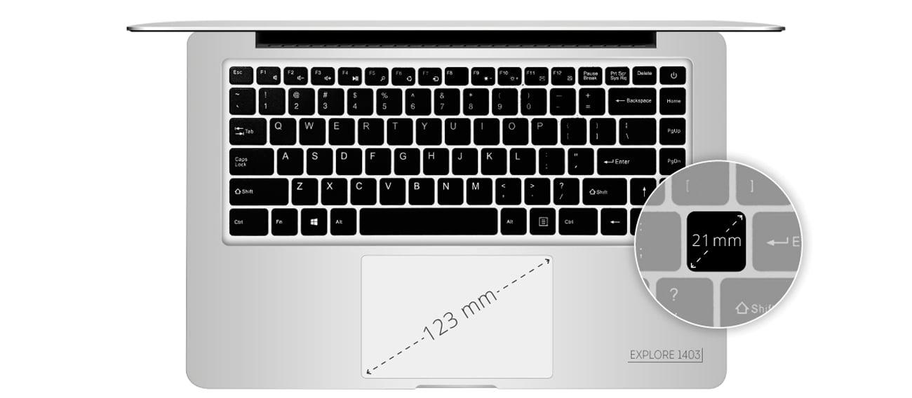 Kruger&Matz Explore 1403 FHD klawiatura touchpad