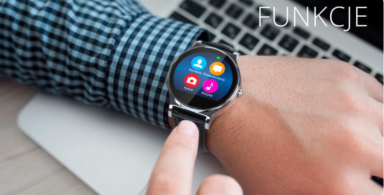 smartwatch Kruger&Matz Style sterowanie aplikacjami