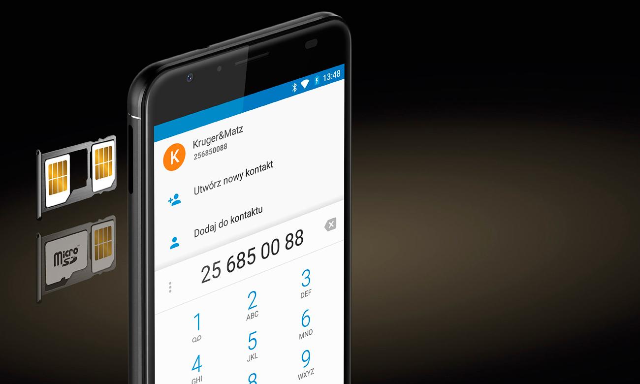 Kruger&Matz LIVE 5+ obsługa dual SIM