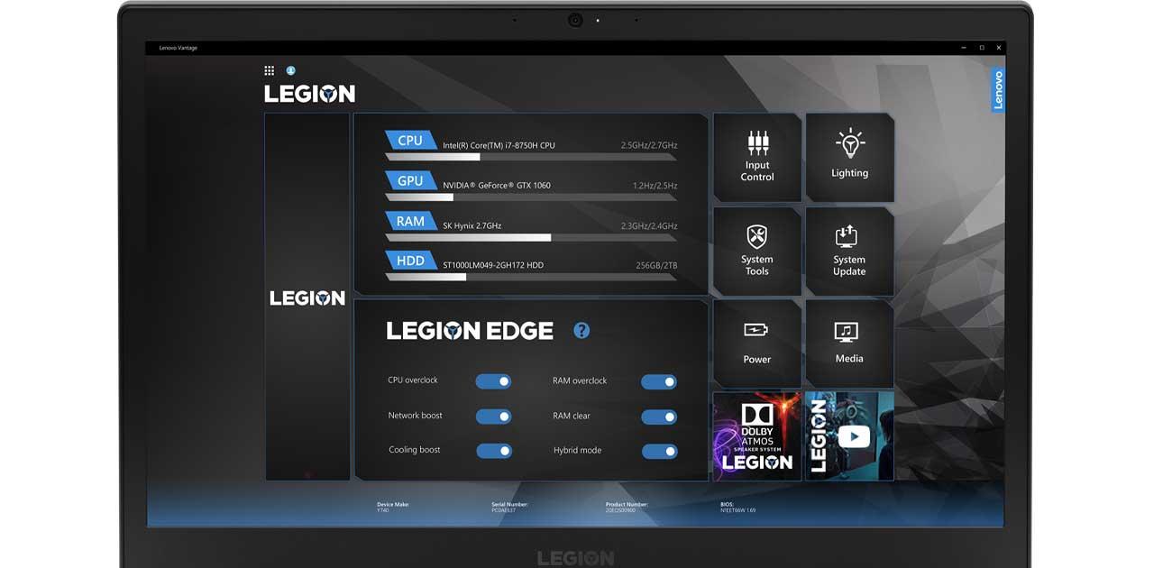 Lenovo Legion Y740 oprogramowanie