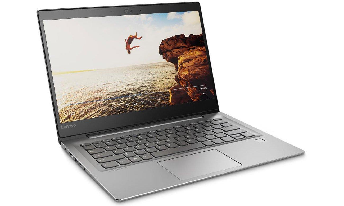 Lenovo Ideapad 520s-14 Wspaniała jakość obrazu na matrycy IPS Full HD