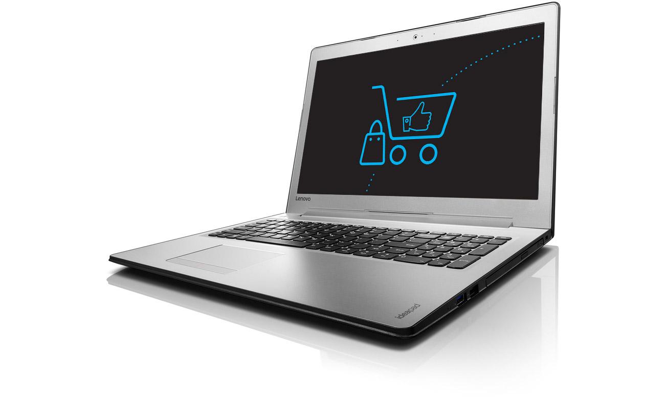 Laptop Lenovo Ideapad 510 podświetlana klawiatura