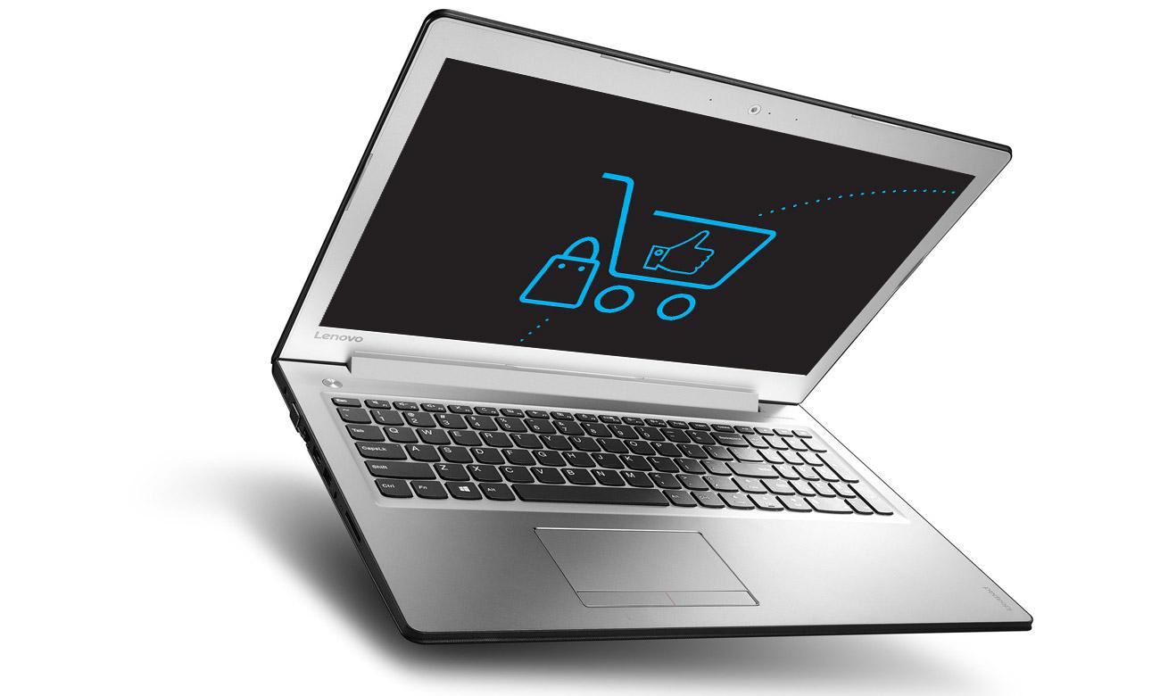 Laptop Lenovo Ideapad 510 ekran full hd wbudowana klawiatura wysoka jakość obrazu