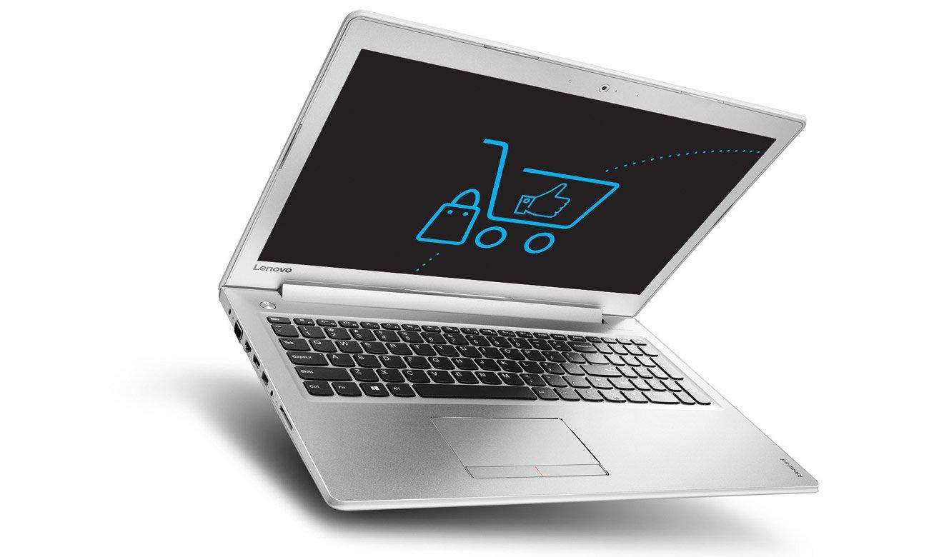 Laptop Lenovo Ideapad 510 Ekran fullHD wbudowana kamera wysoka jakość obrazu