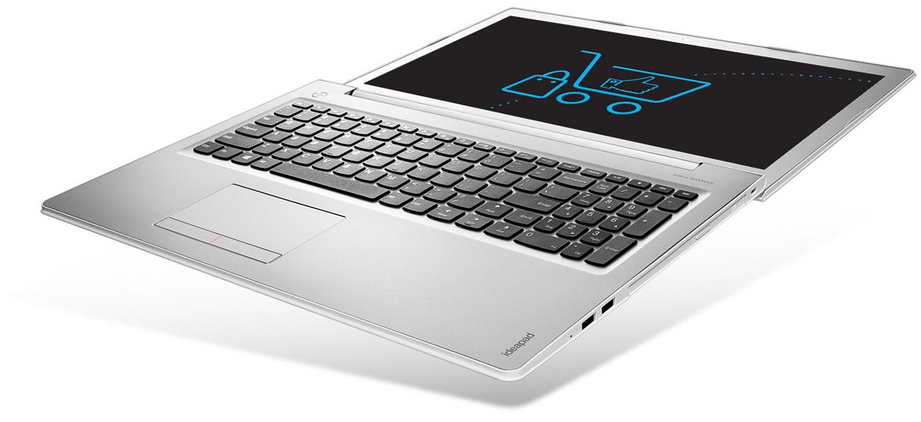 Laptop Lenovo Ideapad 510 zawias odchylany 180 stopni smukły lekki mobilny