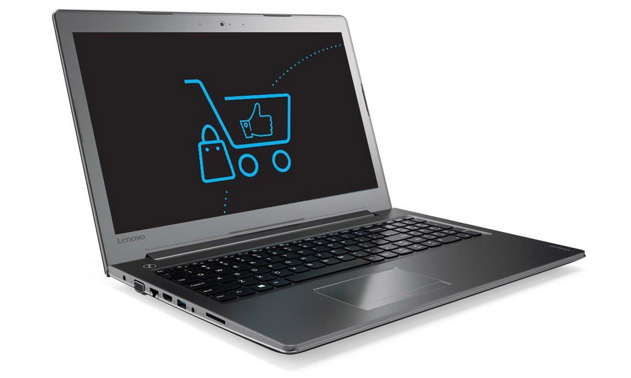 Laptop Lenovo Ideapad 510  wbudowana kamera wysoka jakość obrazu rozmowy online