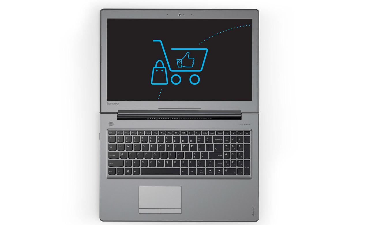 Laptop Lenovo Ideapad 510 zawias smukły lekki mobilny