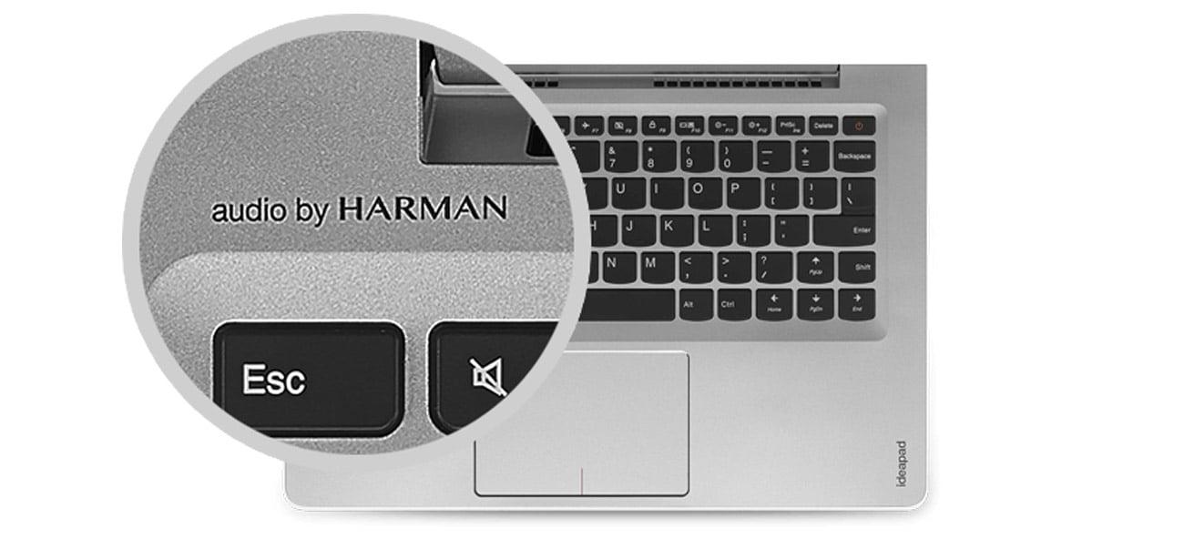 Laptop Lenovo Ideapad 510s głośniki stereo harman audio