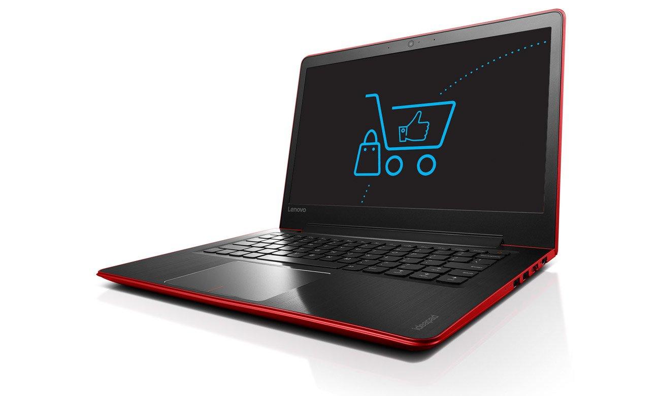Laptop Lenovo Ideapad 510s wbudowana kamera wysoka jakość obrazu