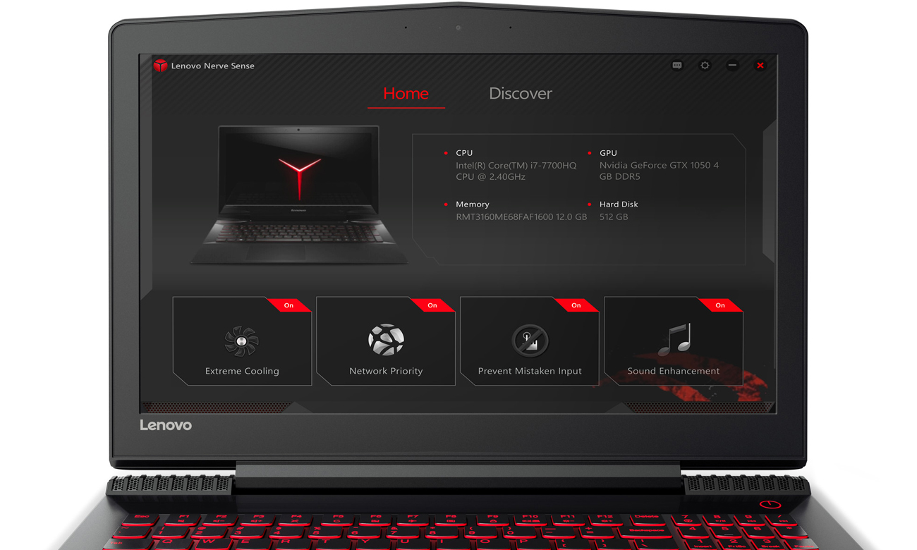 Lenovo Y520 Legion oprogramowanie Lenovo Nerve Sense