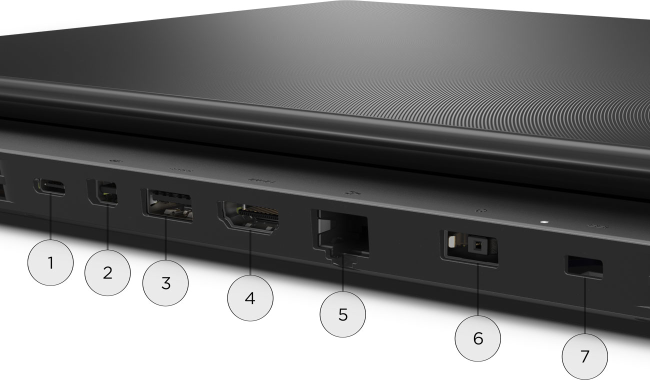 Lenovo Legion Y530 Pełna łączność, Szeoka gama portów