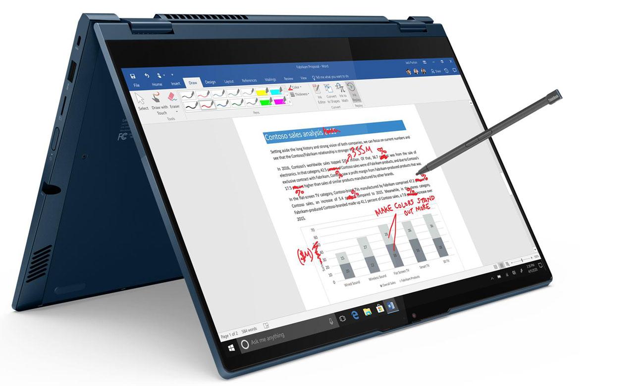 Lenovo ThinkBook Yoga 14s praca w wielu trybach