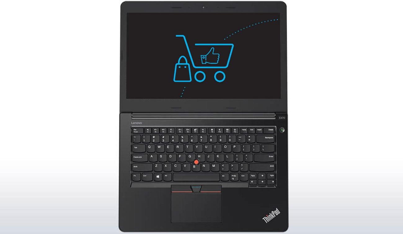 Laptop Lenovo ThinkPad E470 zintegrowana kamera 720p HD mikrofon dwukanałowy funkcja redukcji szumów