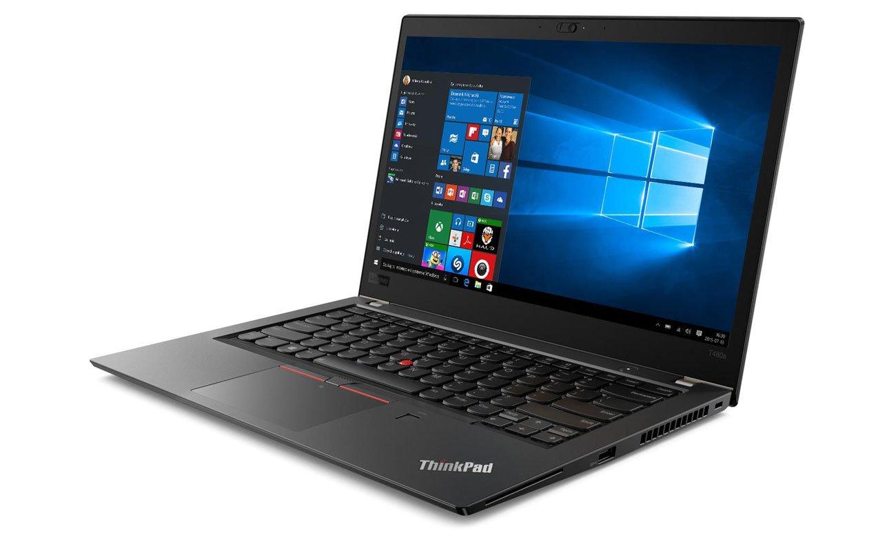 Lenovo ThinkPad T480s Piękna, przyciągająca wzrok grafika, Wyświetlacz IPS Full HD