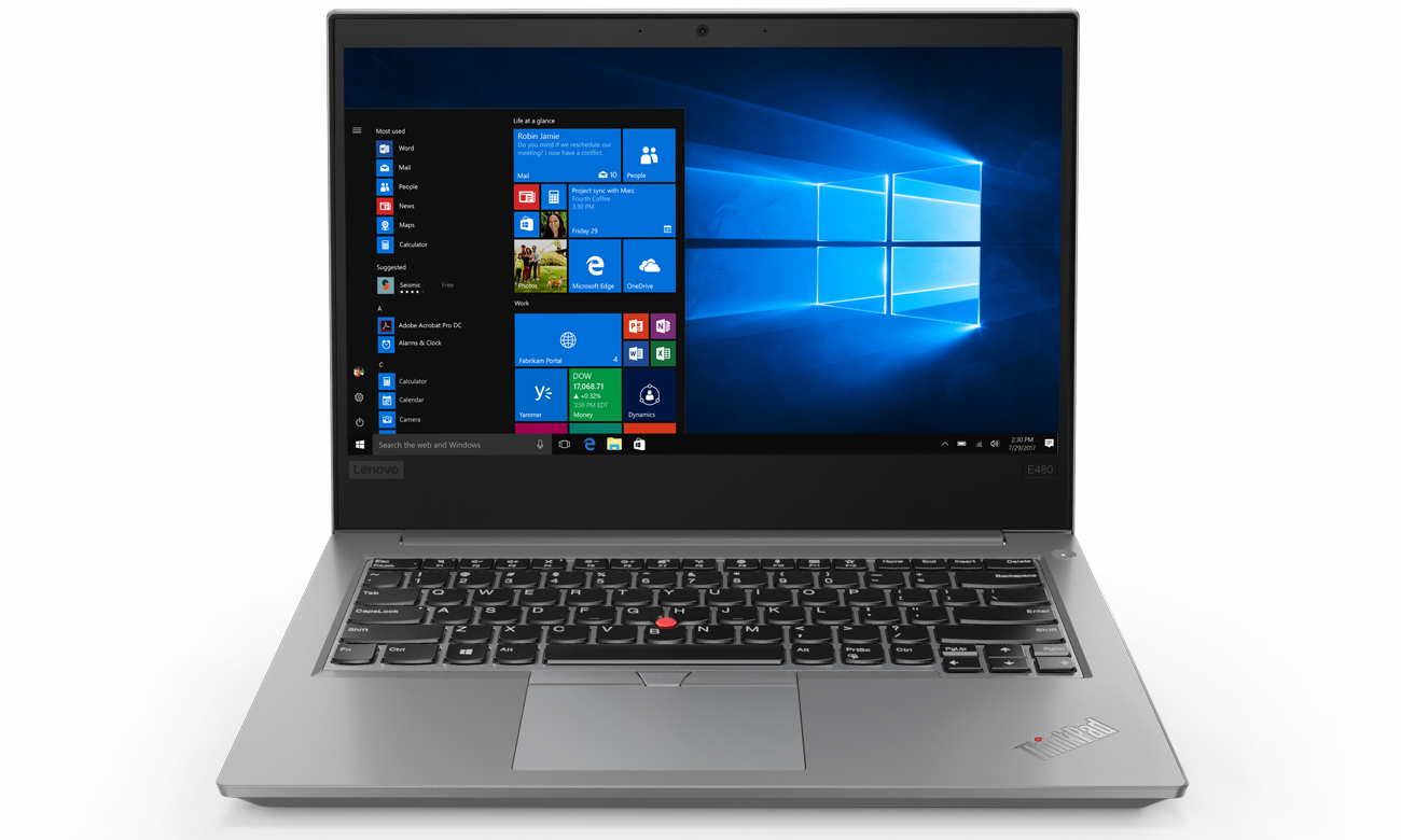 Lenovo ThinkPad E480 Wąska ramka wyświetlacza Full HD IPS