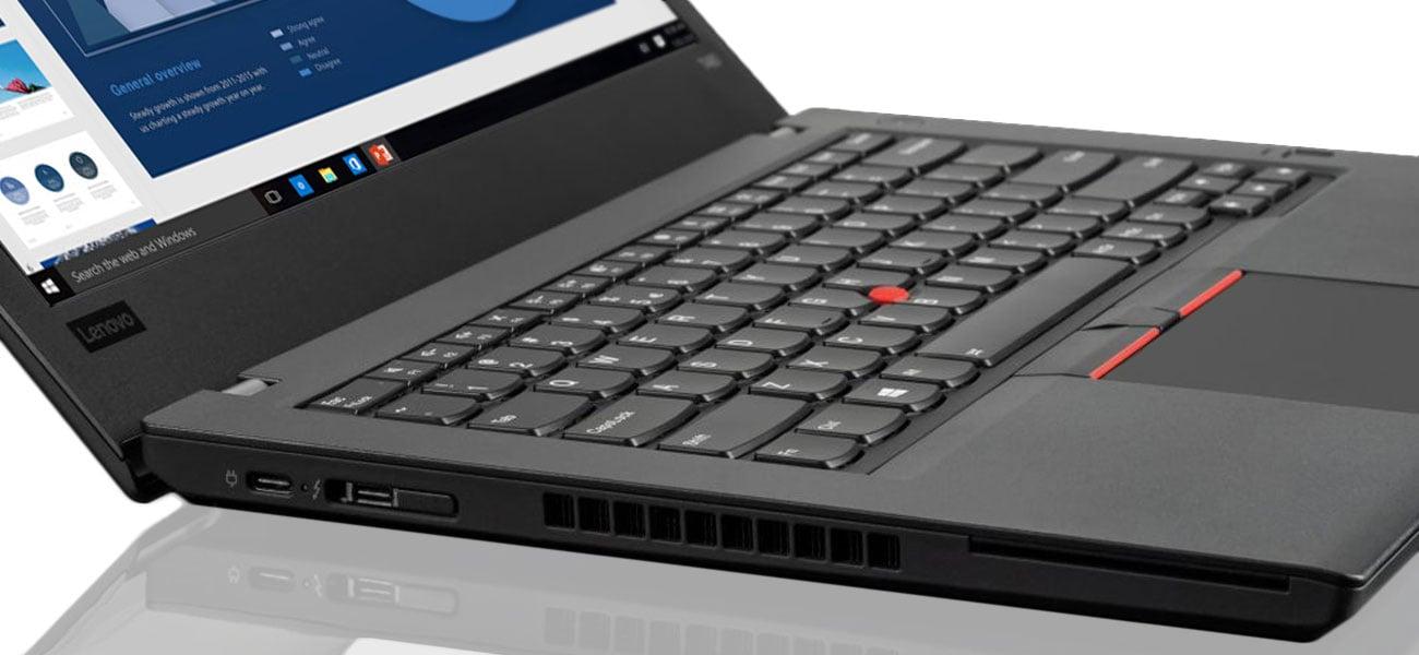 Lenovo ThinkPad T480 Niezwykle smukła forma z szeregiem złączy