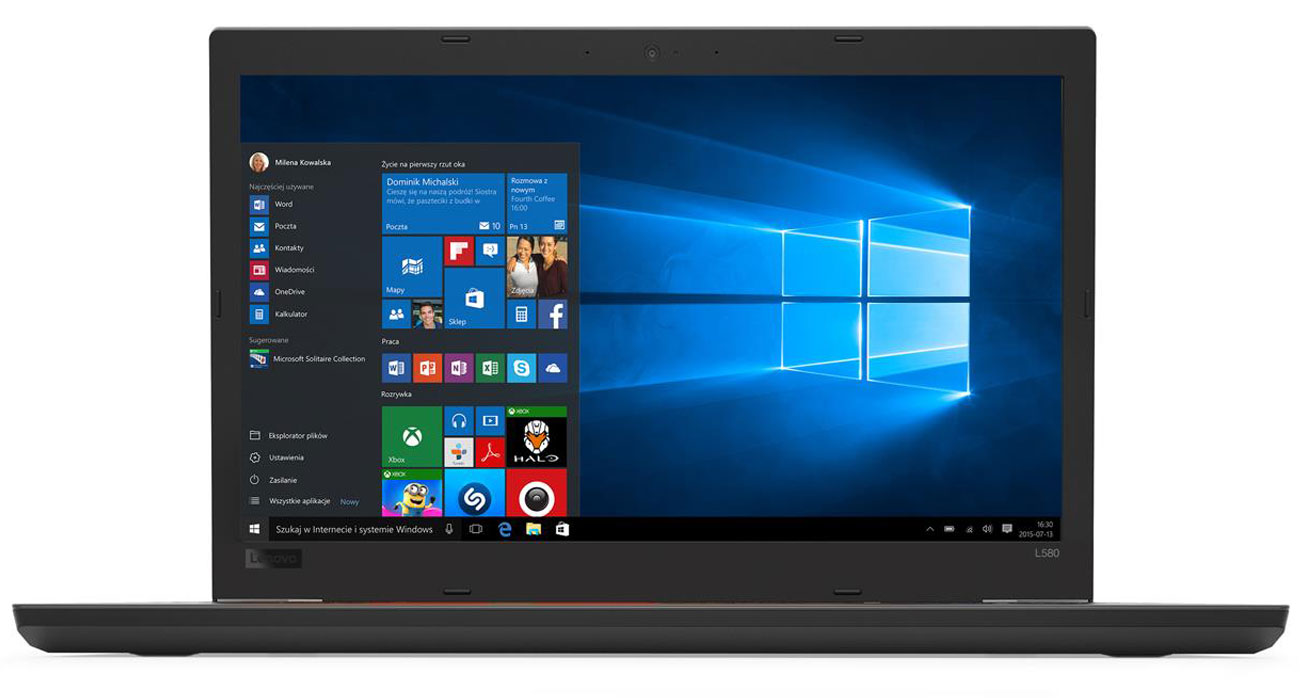 Lenovo Thinkpad L580 ekran Full HD IPS