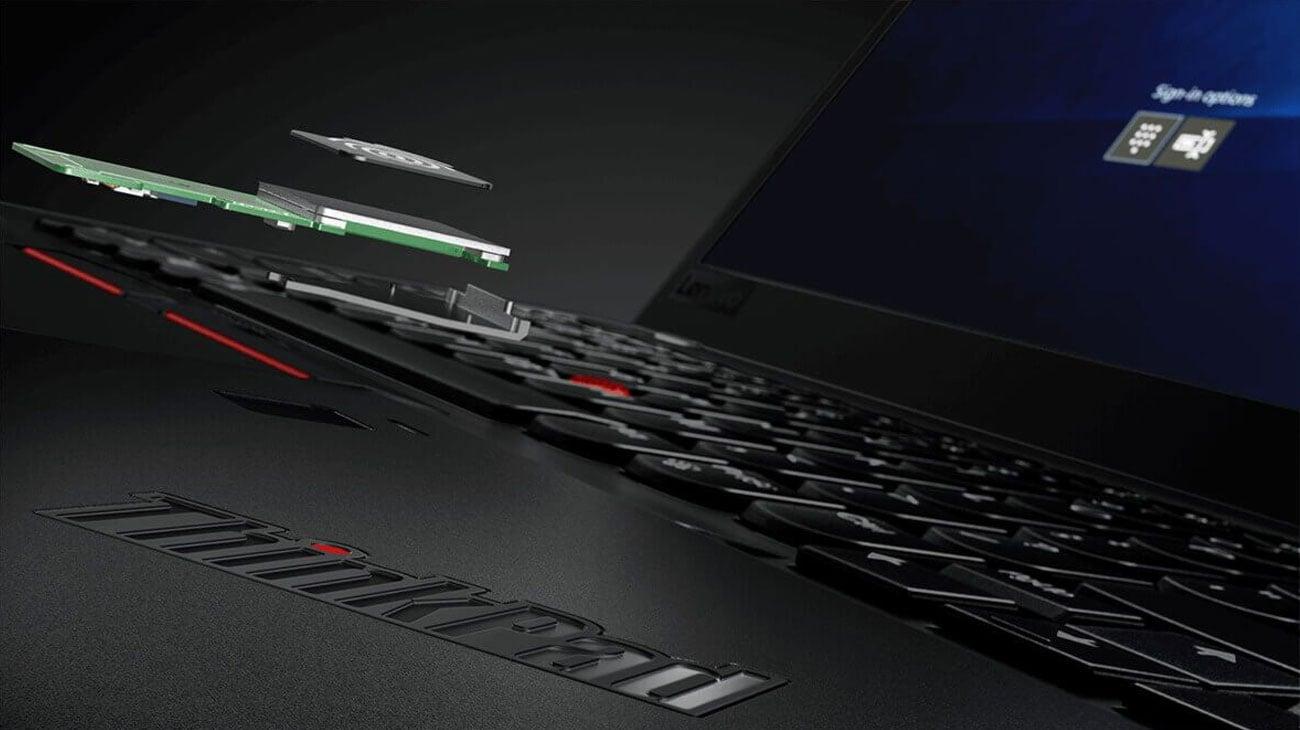 Lenovo Thinkpad X1 Carbon 6 Czytnik linii papilarnych i uwierzytelnianie FIDO