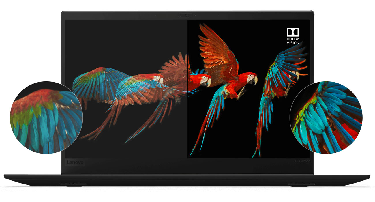 Lenovo Thinkpad X1 Carbon 6 ekran Full HD IPS z technologią HDR Dolby Vision
