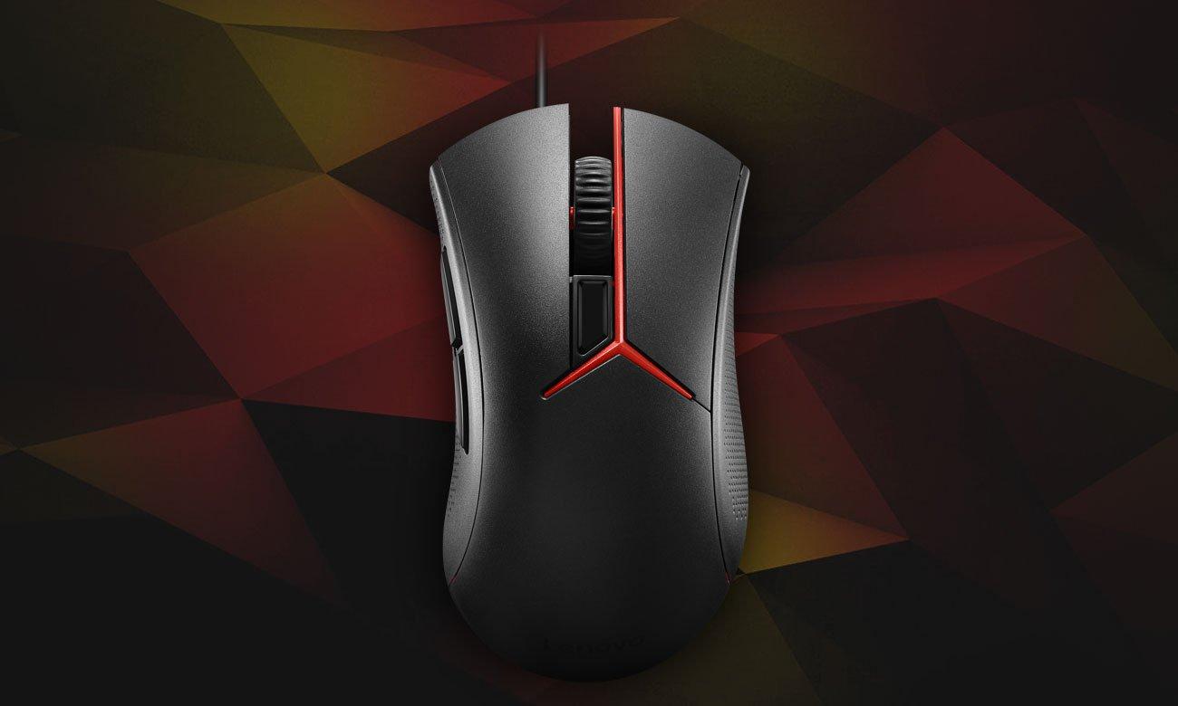 Mysz optyczna Lenovo Y Gaming Ergonomiczna konstrukcja, Pewny chwyt i wytrzymałość