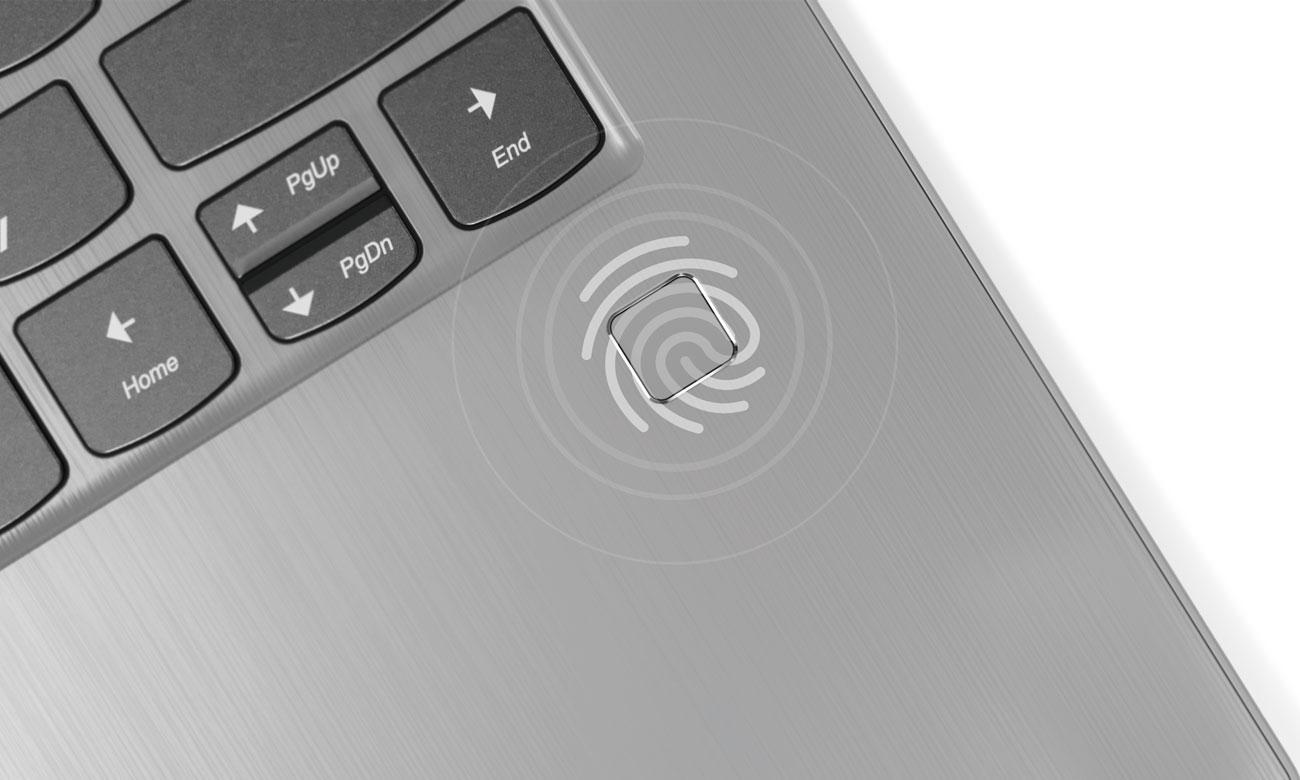 Lenovo Yoga 530 Wbudowany czytnik linii papilarnych