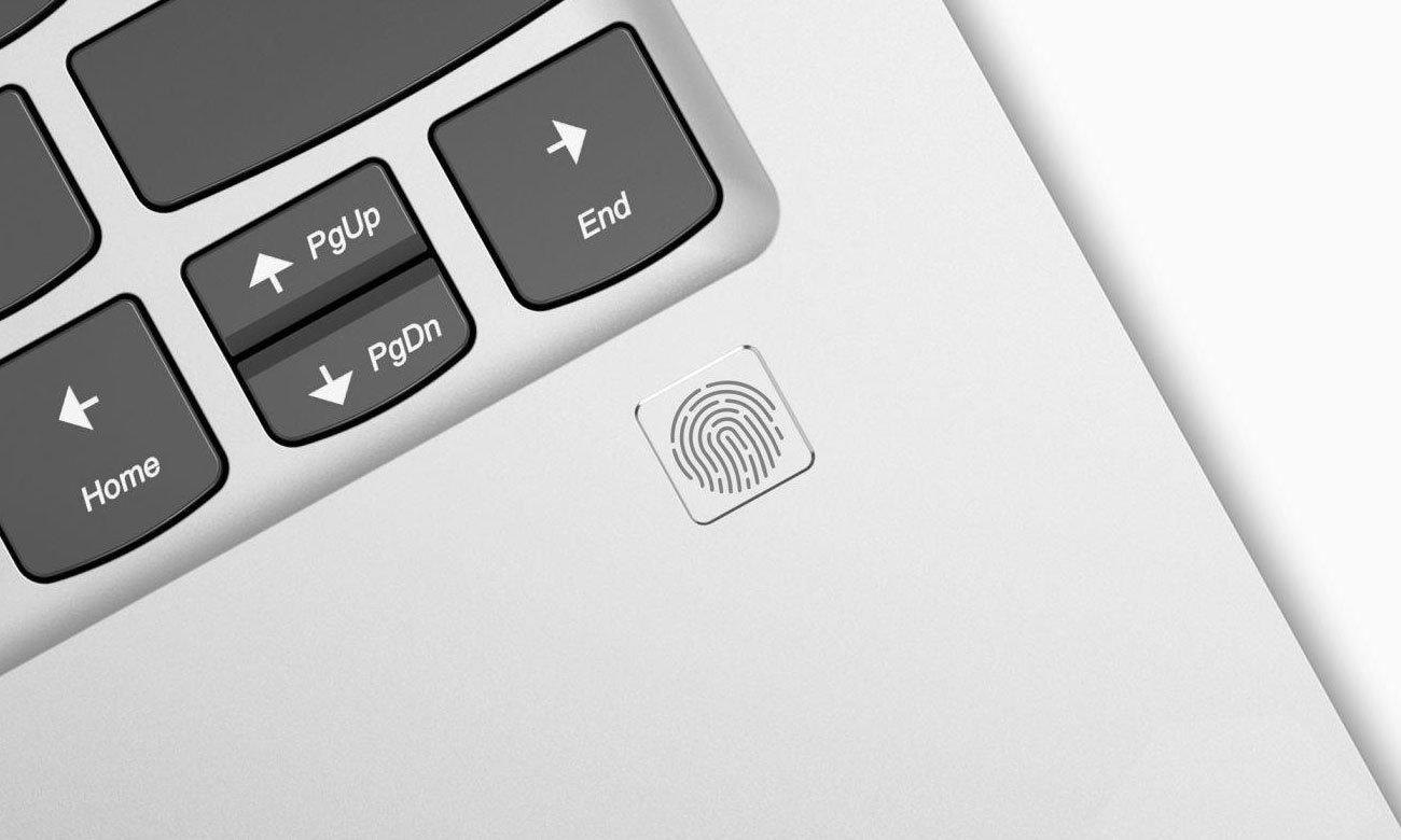 Lenovo Yoga 920 Czytnik linii papilarnych i funkcja Windows Hello