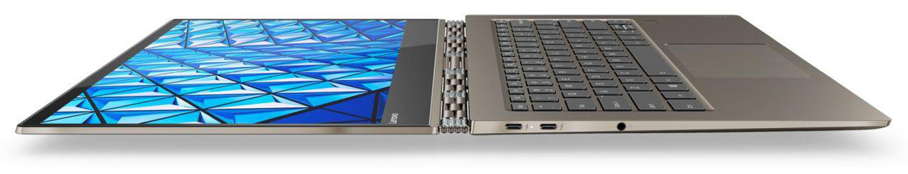 Lenovo Yoga 920 Uniwersalna łączność dwóch portów Thunderbolt