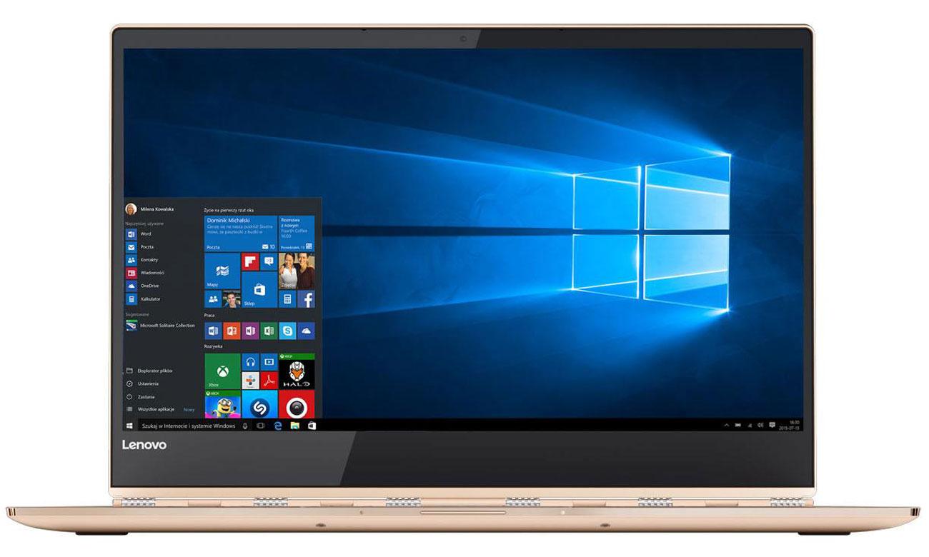 Lenovo Yoga 920 Oszałamiająca przejrzystość obrazu w jakości Full HD IPS