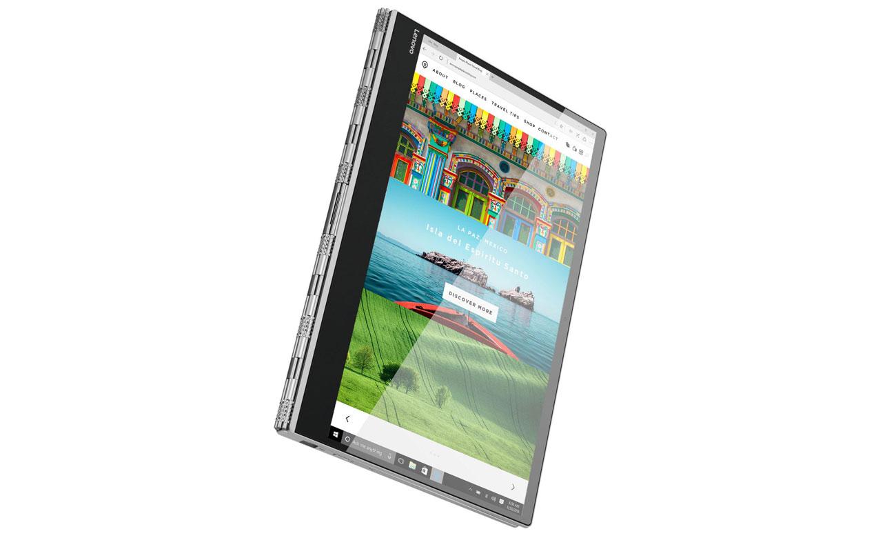 Lenovo Yoga 920 Możliwość obsługi ekranu niezwykle czułym rysikiem