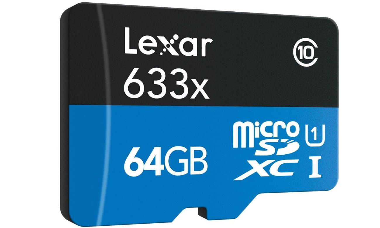 64GB microSDXC 633x 95MB/s + adapter