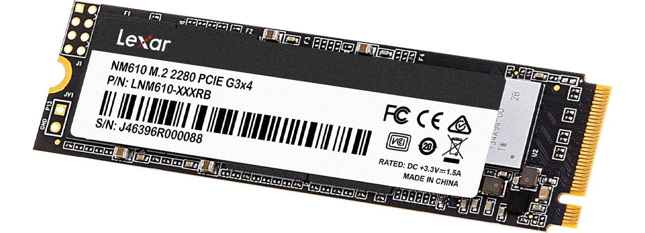 Dysk M.2 PCIe NVMe Lexar NM610 500 GB