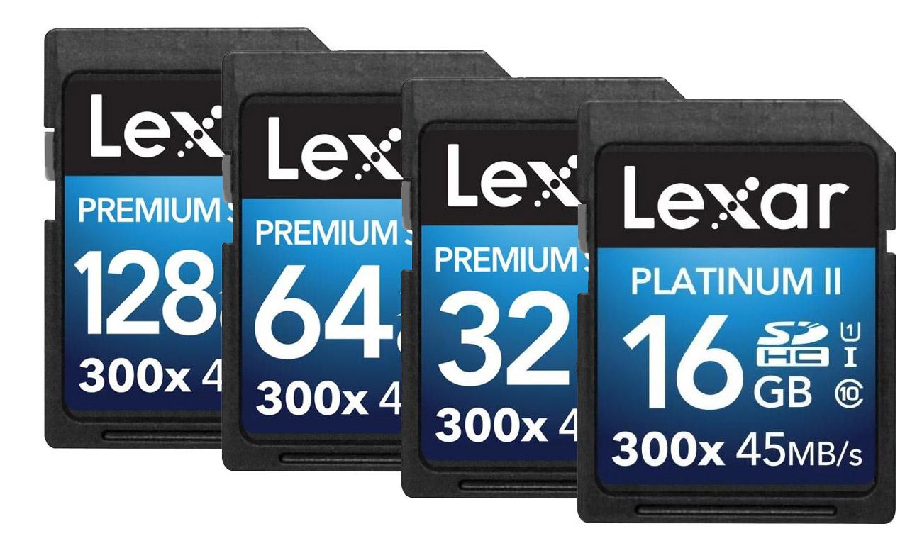Lexar Premium II 300x SDHC Wydajne karty pamięci