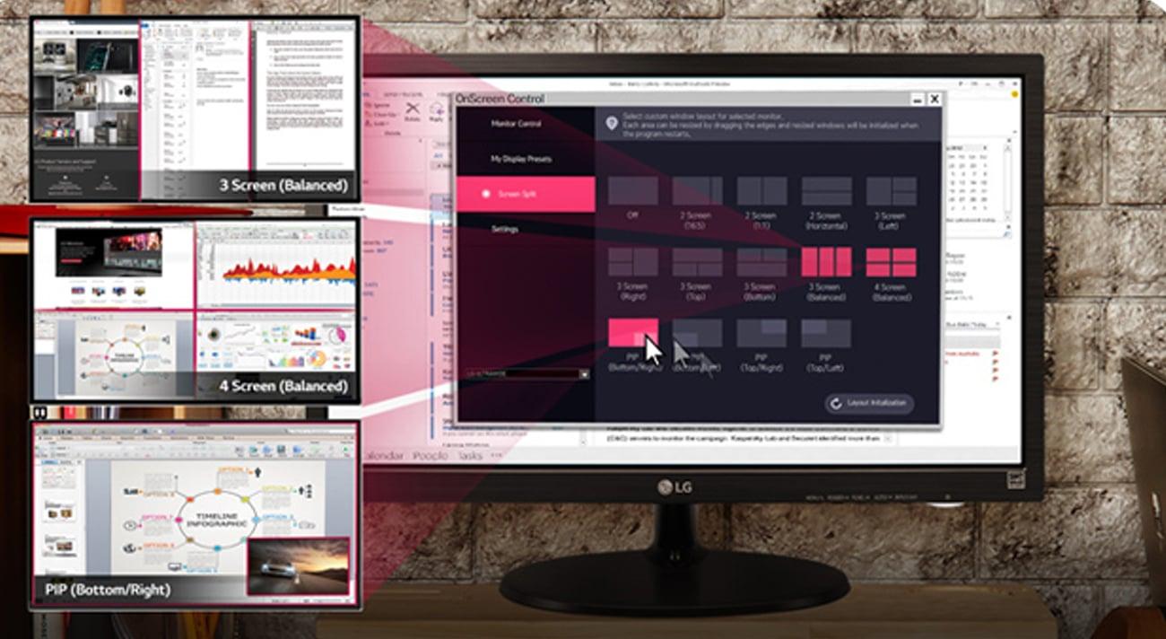 Funkcja dzielenia ekranu