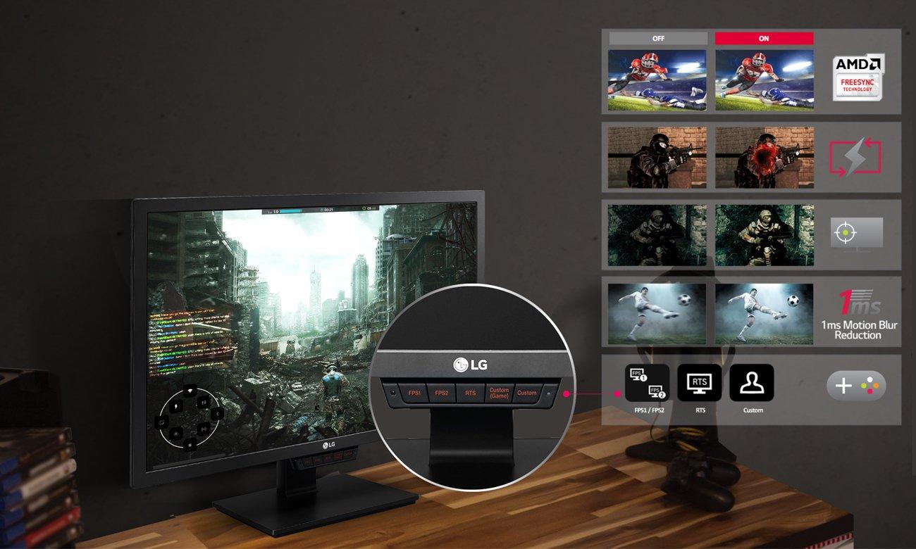 LG 24GM79G funkcje dla graczy
