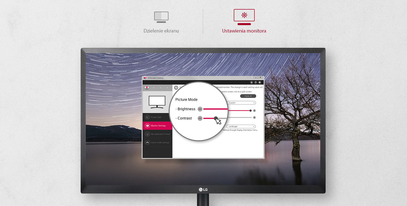 LG 24MK430H-B OnScreen Control