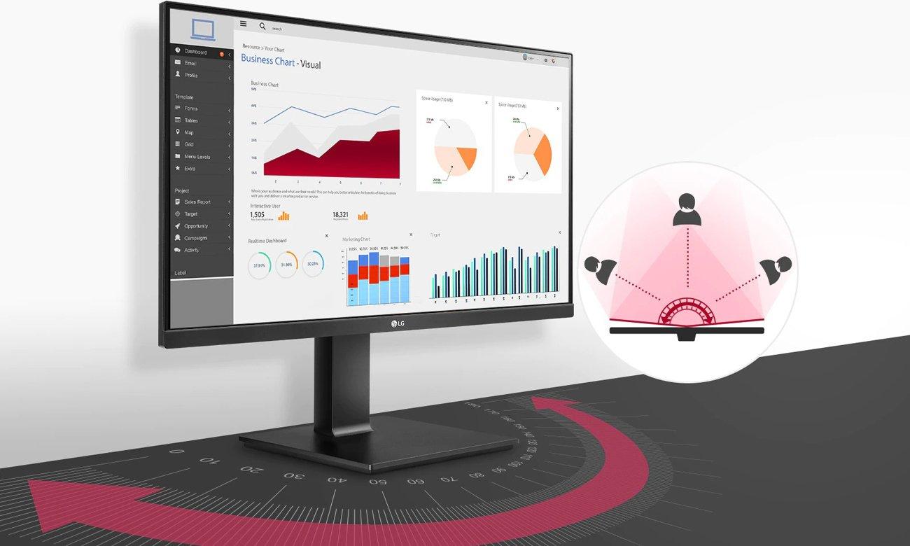 Monitor do domu i do biura LG 24QP550-B