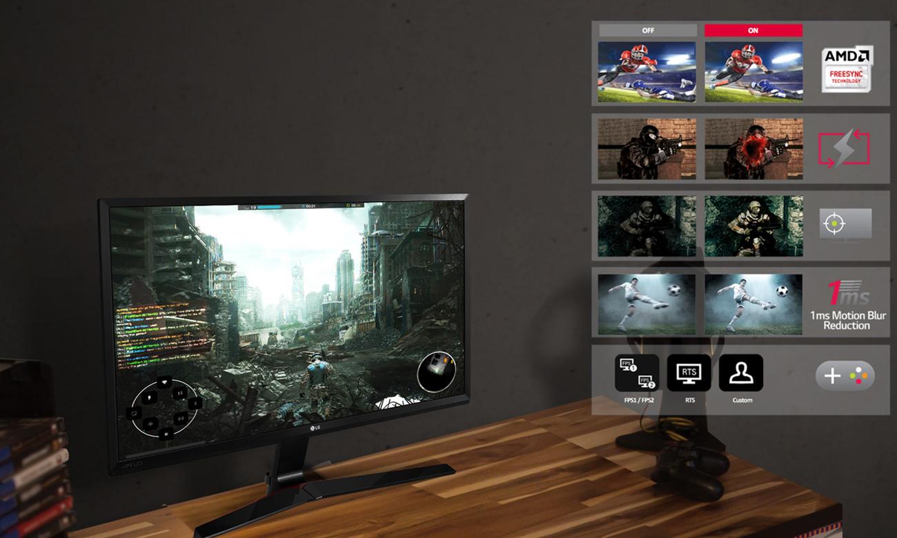 LG 27MP59G opcje dla graczy