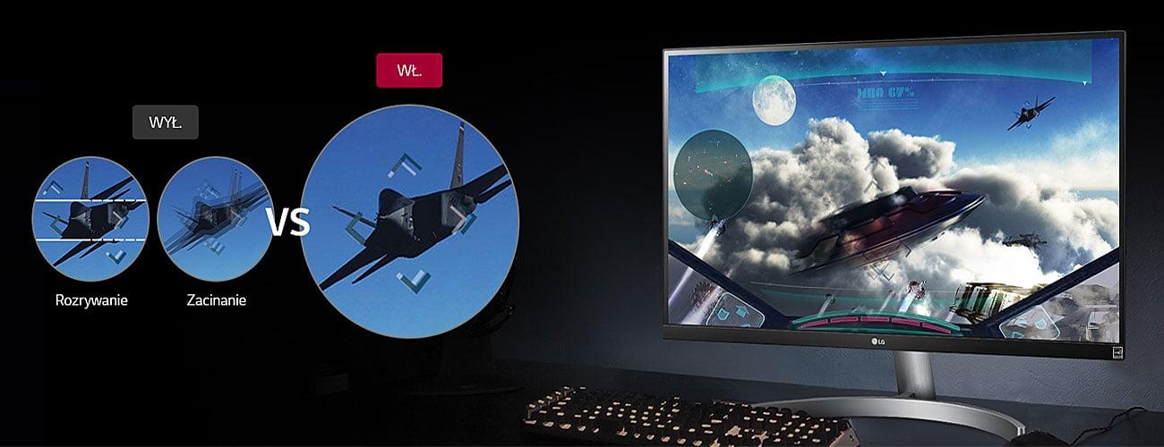 LG 27UK600 Czystszy i płynniejszy obraz