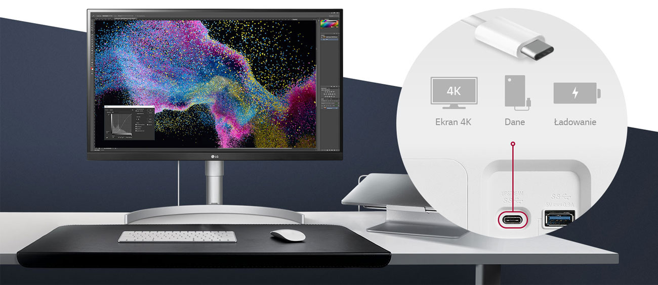 Monitor profesjonalny LG 27UL850-W 4K HDR
