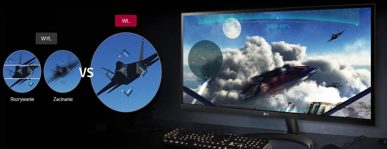 LG 29WK500-P Czystszy i płynniejszy obraz AMD FreeSync