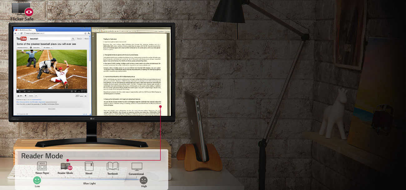 LG 32MP58HQ reader mode