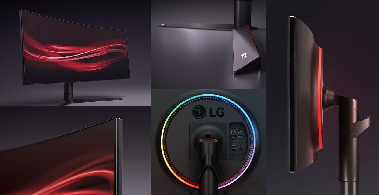 LG 34GK950G Podstawa, podświetlenie